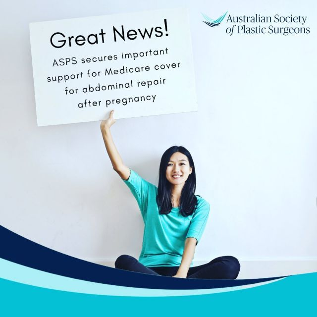Great News for Women!  Australian women, who suffer negative physical consequences of pregnancy, may be able to have reconstructive correctional surgery funded by Medicare later next year, after a campaign by women and surgeons to have the procedure reinstated to the MBS, (Medicare Benefits Schedule) five years after it was removed in 2016.  MSAC the independent committee who provides advice to the Government on whether a new medical service should be publicly funded has recommended creating a new Medicare item number for abdominoplasty with repair of rectus diastasis (tummy muscles) after pregnancy!  Although this endorsement from MSAC goes a long way to ensuring it'll be back on the Medicare schedule there is still a way to go – these things take time!  #asps #aspsaus #plasticsocietyaustralia #asaps #plasticsurgeryaustralia #australianplasticsurgeon #aspsmemberaustralia #repairthegap #fracs #rectusdiastasis #muscleseparation #mumsofmultiples #tummytuck #abdominoplasty
